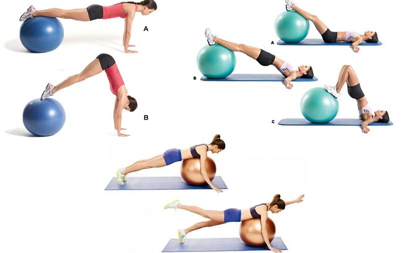Остеохондроз комплексы упражнений с мячом