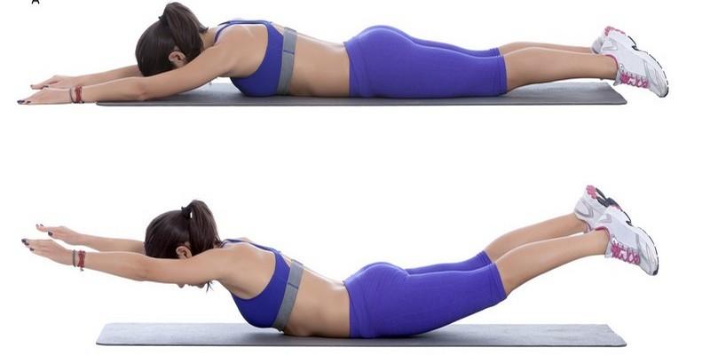 Упражнение для спины рыбка